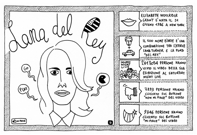 Lana del Rey su dischi Disegnati