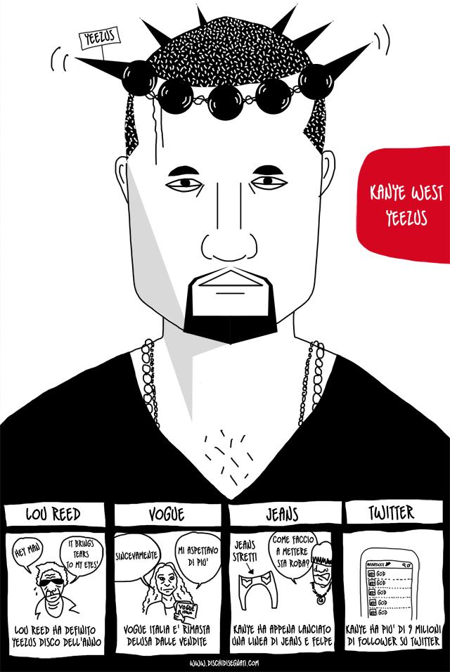 Kanye West su Dischi Disegnati